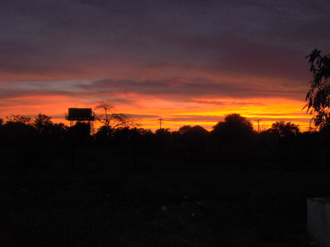 Sunset at Gweta