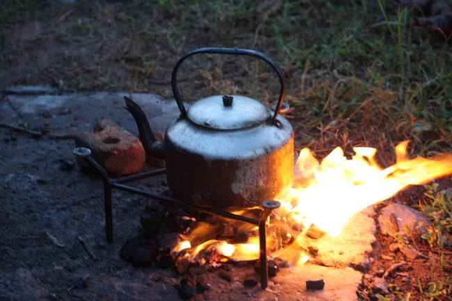 Ketel op die vuur