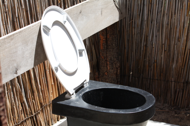 Free use toilet inside