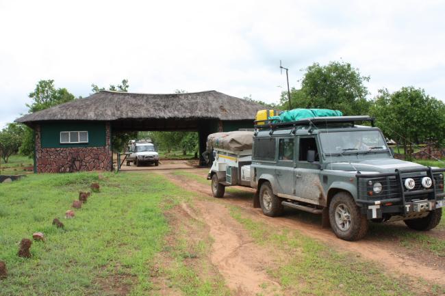 Entering the Hwange from Padamatenga