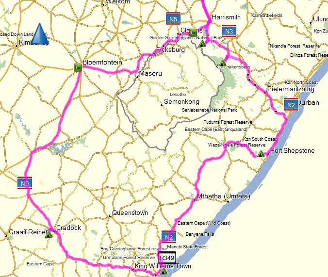 2016 Easter Route